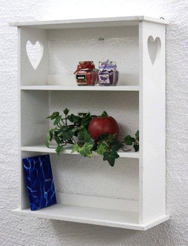 Wandregal-mit-Herz-12013-Regal-50cm-Vintage-Shabby-Landhaus-Kchenregal-Wei
