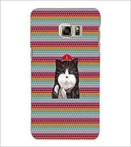PrintDhaba Kitty D-3310 Back Case Cover for SAMSUNG GALAXY NOTE 5 EDGE (Multi-Coloured)