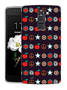 """Random Abstract Printed Designer Mobile Back Cover For """"LG K10"""" By Humor Gang (3D, Matte Finish, Premium Quality, Protective Snap On Slim Hard Phone Case, Multi Color)"""