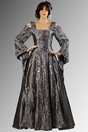 Silver Gothic Medieval Dress