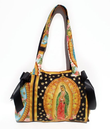 Mexican Guadalupe Virgin Mary Pinup Rockabilly Diaper Tote Bags front-174480