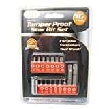 16 Pc Security Tamper Proof 6 Point Star Bit Set Torx Socket Tamperproof Tool !!