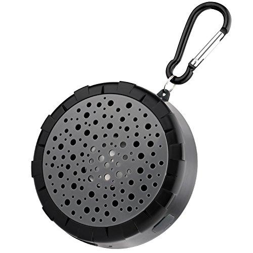 Doccia Speaker, SoundPEATS senza fili impermeabile altoparlante portatile Bluetooth con batteria ricaricabile, supporta tutti i dispositivi abilitati Bluetooth per il bagno, vasca da bagno e Beach (nero)