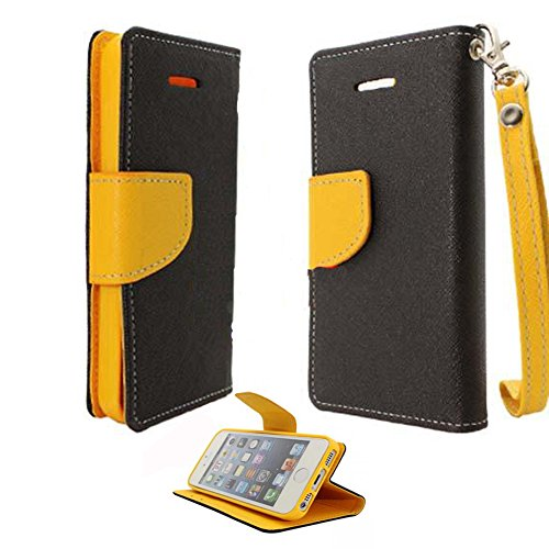 Mylife (Tm) Black + Yellow Bumble Bee {Hipster Design} Faux Leather (Card, Cash And Id Holder + Magnetic Closing) Slim Wallet For The Iphone 5C Smartphone By Apple (External Textured Synthetic Leather With Magnetic Clip + Internal Secure Snap In Hard Rubb
