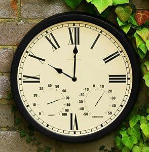 outdoor garden wall clock black garden outdoors