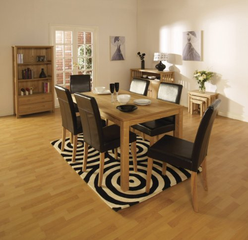 Ash Veneer Ashbourne Dining Set with Six Chairs