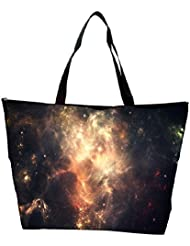 Snoogg Abstract Galaxy Designer Waterproof Bag Made Of High Strength Nylon