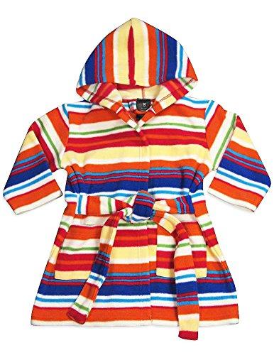 WXY - Baby Boys Fleece Striped Robe, Orange, Purple, Raspberry 32896-12-18Months