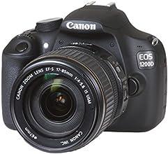 "Canon EOS 1200D - Cámara réflex digital de 18 Mp (pantalla 3"", estabilizador óptico, Kit con objetivo EF-S 17-85mm f/4-5.6 IS USM), negro"