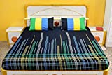 Ebony & Silk Simple Sober and Beautiful Cotton Bedsheet with 2 Pillow Covers - King Size