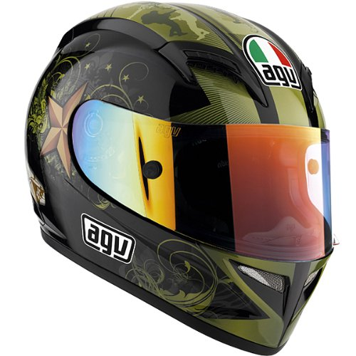 AGV T-2 WARRIOR HELMET BLACK MD