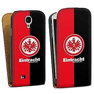 Samsung Galaxy S4 Hülle Tasche Etui Schutzhülle black - Eintracht Frankfurt schwarz rot
