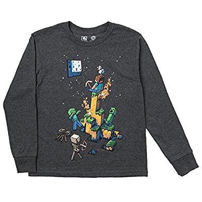 Minecraft Big Boys' 8-20 Tight Spot Youth Long Sleeve T-Shirt