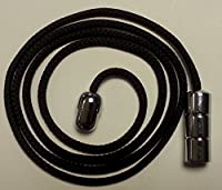 Ceiling Light Cord Pull - Chrome Barrel & Connector with Black Cord - by Decozo Workroom Supplies from Decozo Workroom Supplies