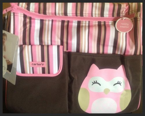Carter's Owl Diaper Tote Bag
