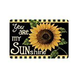 "23.6""(L) x 15.7""(W) Sunflower Flower Floral,You Are My Sunshine Fabric Floor Mats Living Room Bedroom Doormat Indoor with Anti-slip Backing"