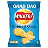 Walkers Cheese and Onion Potato Crisps 50 g (Pack of 32)