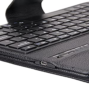 STYLE Samsung Galaxy Note PRO & Tab PRO 12.2 Case - Wireless Bluetooth Keyboard Cover for Galaxy NotePRO & TabPRO 12.2 inch Android Tablet - Black Color (Tablet NOT Included)