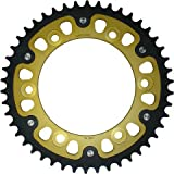 Supersprox Stealth Gold 525 44 Tooth Rear Sprocket for Aprilia RSV 1000 R Factory RSV4 SL Tuono Mille