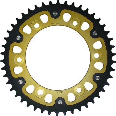 Supersprox Stealth Gold 520 45 Tooth Rear Sprocket for Kawasaki Ninja EX 250 300 500 R (Kawasaki Ninja 300 Rear Sprocket compare prices)