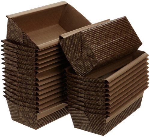 Kitchen Supply 6 x 2.5 x 2 Inch Paper Loaf Pan, Set of 25 (Mini Loaf Pan Disposable compare prices)