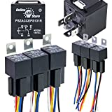 6 Pack - OLS 12V DC 40/30 Amp 5-Pin SPDT Automotive Relay Harness Set (Bosch Style with Interlocking Harnesses)