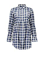 Fred Perry Camisa Mujer (Azul / Blanco)