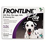 Merial Frontline Plus Flea and Tick Control for  45 to 88-Pound Dogs, 6 Applicators ~ Merial