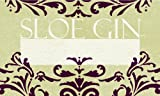 Pack of 6 Nutley's Rococo Labels for Sloe Gin Bottles, 9.6cm x 5.1cm
