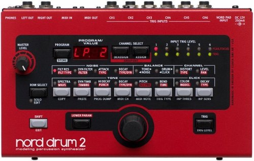 Nord Drum 2 Virtual Analog 6-Channel Drum Synthesizer With Resonance Modeling