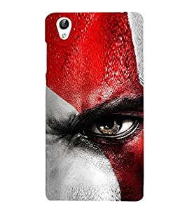 Vizagbeats Angry Eye Back Case Cover for Oppo A37