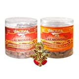 Chocholik Dry Fruits - Almonds Smoked Barbeque & Tandoori Masala With Ganesha Idol - Diwali Gifts - 2 Combo Pack