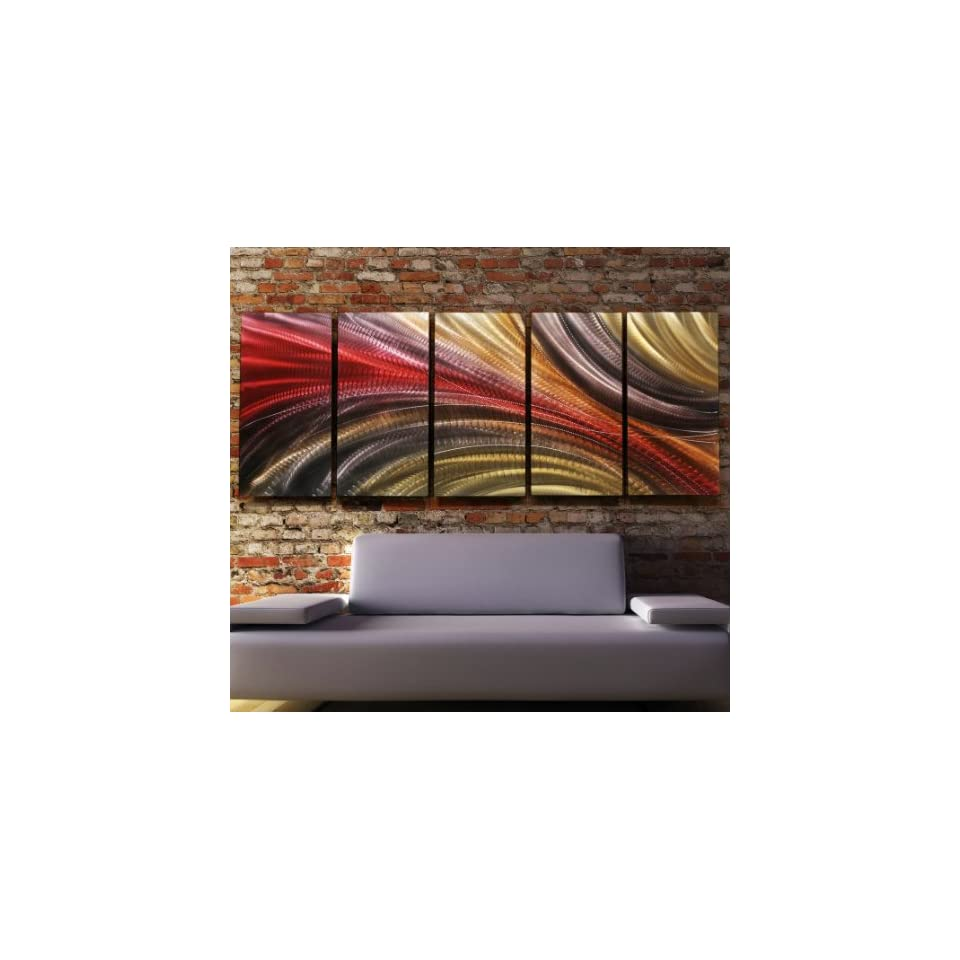 Red, Gold and Charcoal Abstract Metallic Wall Painting   Modern Contemporary Home Office Decor Hanging Sculpture Art   Cosmic Significance 2 by Jon Allen