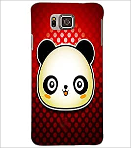 PrintDhaba Panda D-4871 Back Case Cover for SAMSUNG GALAXY ALPHA (Multi-Coloured)