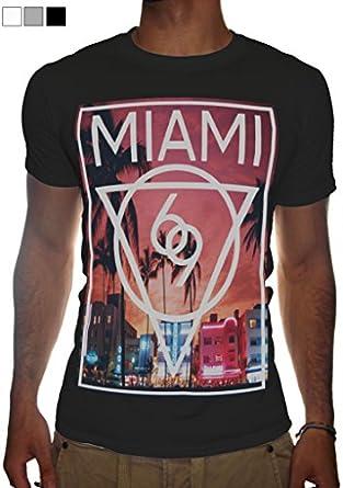 Mens miami t shirt new printed fashion clothing for T shirt printing miami fl