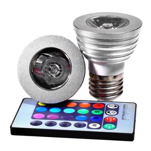 Miniwatts E27 3W Rgb Colour Changing Led Spotlight Bulb