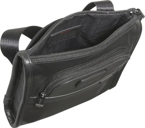 Tumi Tumi Luggage Alpha Leather Pocket Bag Small, Black, One Size