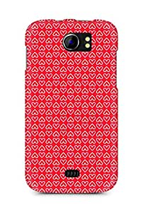 Amez designer printed 3d premium high quality back case cover for Micromax Canvas 2 A110 (Heart Pattern2)