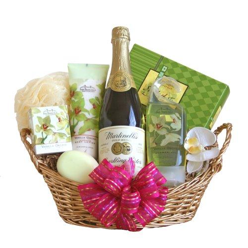 California Delicious Vanilla Orchid Spa Valentine Gift Basket