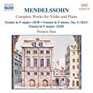 Mendelssohn: Works For Violin And Piano (Complete)
