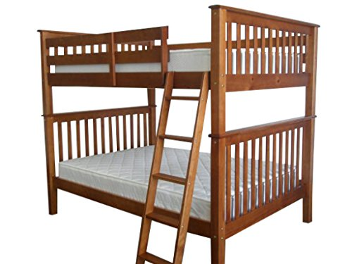 Bedz King Bunk Bed, Full Over Full Mission Style, Espresso (Full Expresso Bed compare prices)