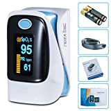 Noza Tec Finger Pulse Oximeter Heart Rate Monitor With LED Display Blood Oxygen Saturation SpO2 With Landyard and Manual