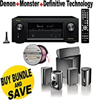 Denon AVRX2200W 7.2 Channel Full 4K Ultra HD A/V Receiver with Bluetooth and Wi-Fi + Definitive…