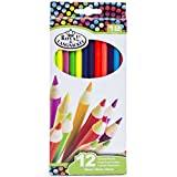 Adult-Coloring-Stress-Relief-Gift-Basket-4-Coloring-Books-24-Colored-Pencils-Gel-Pens-Felt-Tip-Markers-Sharpener