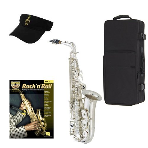 rock n roll silver alto saxophone pack alto sax w case accessories rock n roll play along. Black Bedroom Furniture Sets. Home Design Ideas