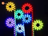 Music Led Strip Lights, TaoTronics Christmas Rope Lights Kit (300 Leds, RGB,20 Key, 16.4ft)