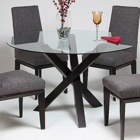 Cool How to buy online Pastel Effervescence Round Glass Top Dining Table W Ballarat Black Base
