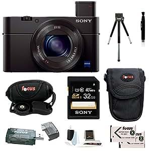 Sony DSC-RX100M III Cyber-shot Digital Still Camera with 32GB Accessory Bundle