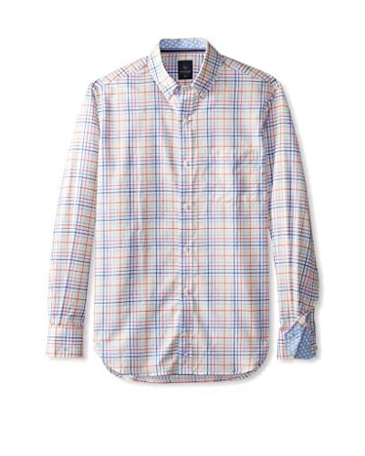 TailorByrd Men's Castaway Long Sleeve Checked Sportshirt