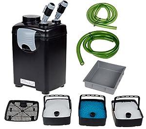 3 Stage 265 GPH External Fish Marine Coral Canister Filter Pump for Aquarium Pond Pump Fish Fresh/salt Water Tank